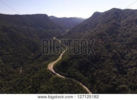 Aerial View of Mogi Bertioga Highway of Sao Paulo, Brazil