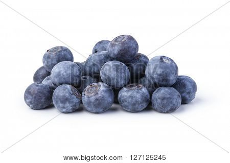 bilberries on a white background
