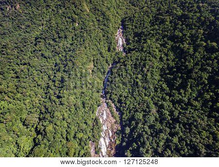 Brazilian Waterfalls in a Mountain