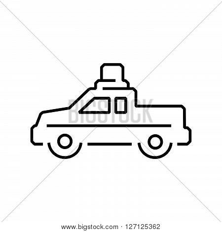 line icon Pickup truck ambulance car icon design