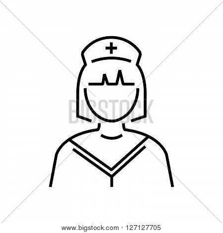 line icon nurse icon design vector support vector design EPS10.