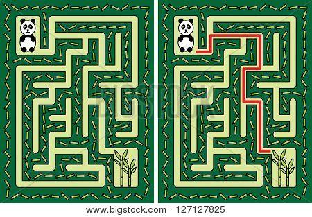 Easy Panda Maze