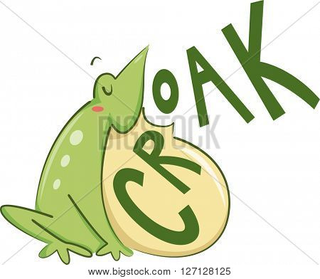Illustration of a Bullfrog Croaking