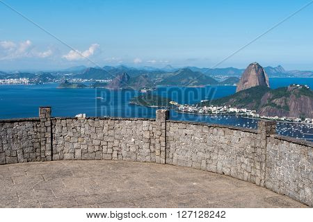 Dona Marta Lookout Point with the Famous View of Rio de Janeiro City