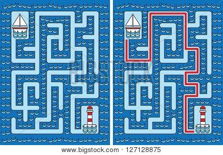 Easy Sailboat Maze