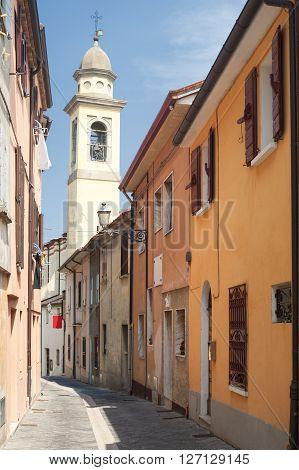 Sogliano al Rubicone (Forli - Cesena Emilia-Romagna Italy) - Street and belfry