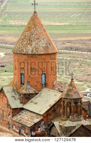 Ancient monastery Khor Virap in the mountains of Armenia. Was founded in years 642-1662.