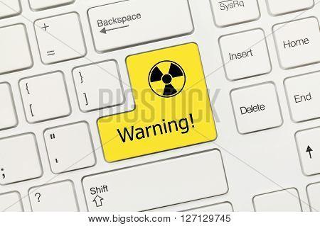 White Conceptual Keyboard - Warning (yellow Key With Radiation Symbol)