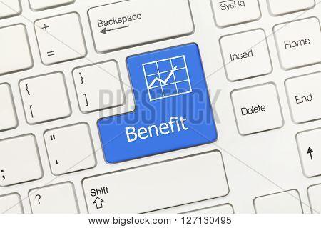 White Conceptual Keyboard - Benefit (blue Key)