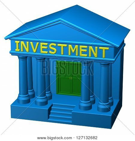 Concept: Investment isolated on white background. 3D rendering.