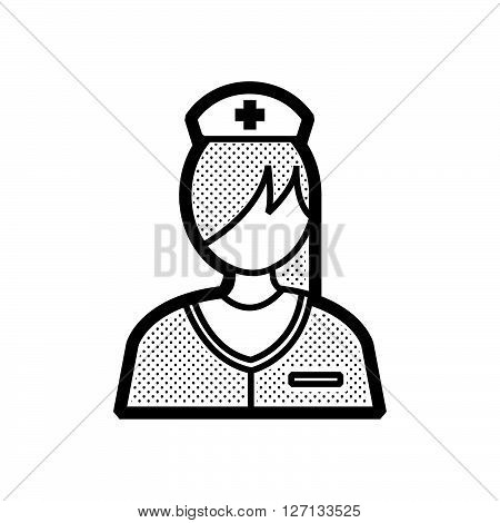 nurse icon design support vector design  eps 10.