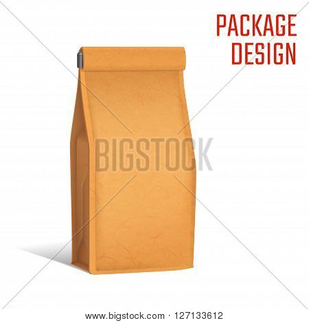 Vector Illustration of Package Craft snack bag for Design, Website, Background, Banner. Pack food Pocket. Mock up Template. Isolated Mockup your branding or product