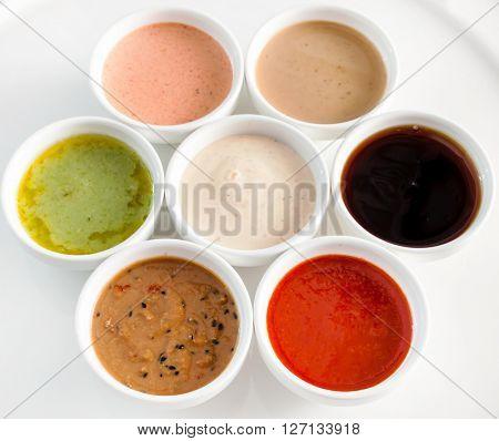 different sauces