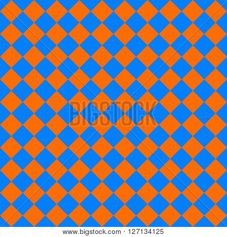 diagonal cloth seamless pattern orange and blue vector illustration