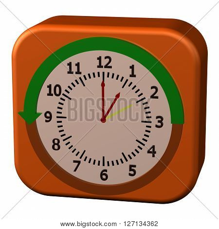 Concept - Daylight Saving Time Ends isolated on white background. 3D rendering.