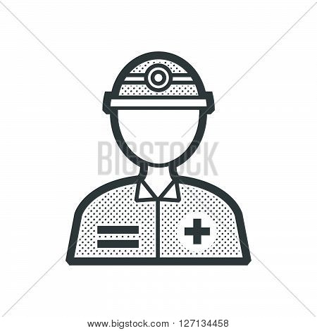 Rescuers Medical avatar icon support vector design  eps 10.