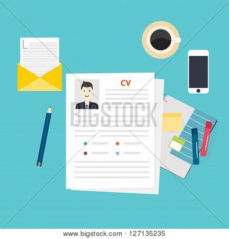 Cv Resume. Job Interview Concept. Writing A Resume.