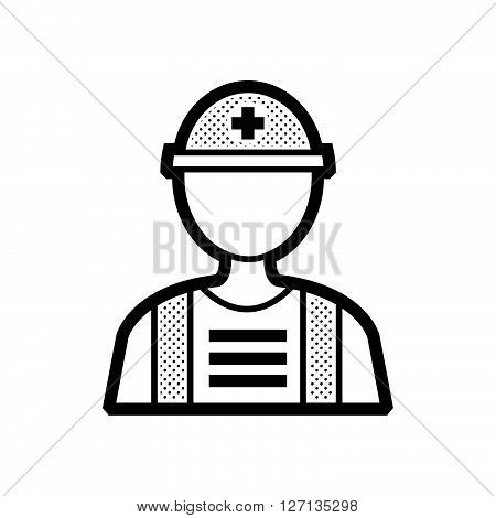 Rescuers Medical avatar flat icon support vector design  eps 10.