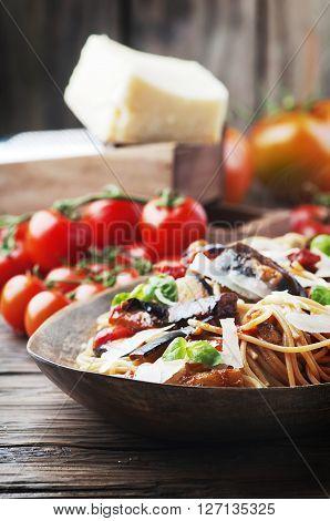 Italian Traditional Pasta Alla Norma