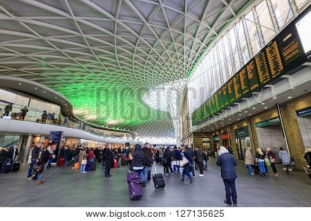 London APR 16: The famous London King's Cross railway station on APR 16 2016 at London