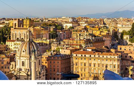 View across the rooftops of Rome - Italy