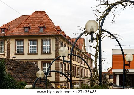 Modern Street Lamp In Saverne, France