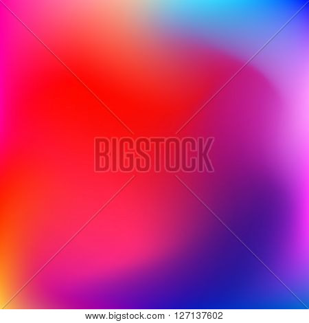 Abstract gradient blured background with pink, violet, purple, red, orange and yellow colors for deign concepts, web, presentations and prints. Vector illustration.