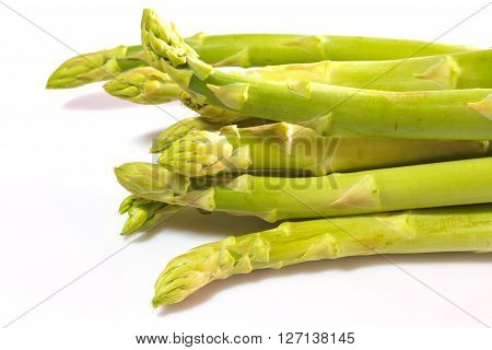 Fresh Green Asparagus On Background