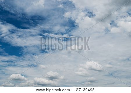 Clouds And Blue Sky Weather Background