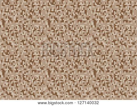 safari camouflage seamless pixel pattern vector illustration