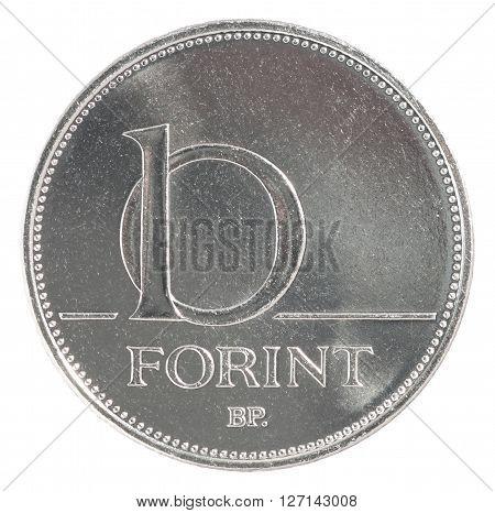 Ten Hungarian Forint Coin