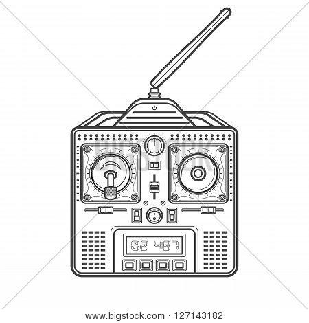 Vector Radio Remote Control Illustration.