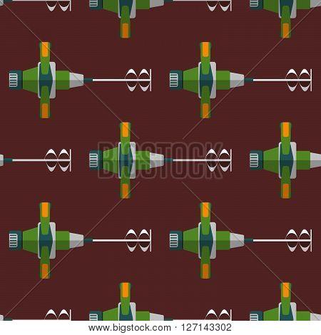 Vector Construction Mixer Seamless Pattern.