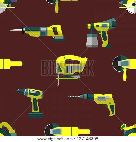 Vector Remodel Tools Seamless Pattern.
