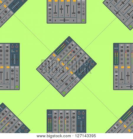 Vector Musical Equipment Seamless Pattern.