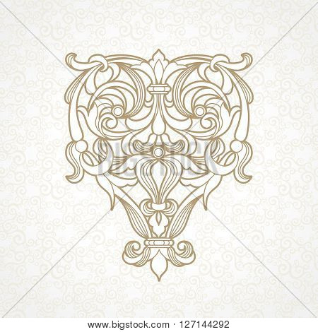 Vector Floral Pattern In Victorian Style.