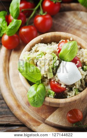 Delicious Salad With Quinoa, Tomato And Avocado