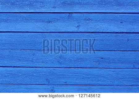 Weathered Blue Wooden Surface.