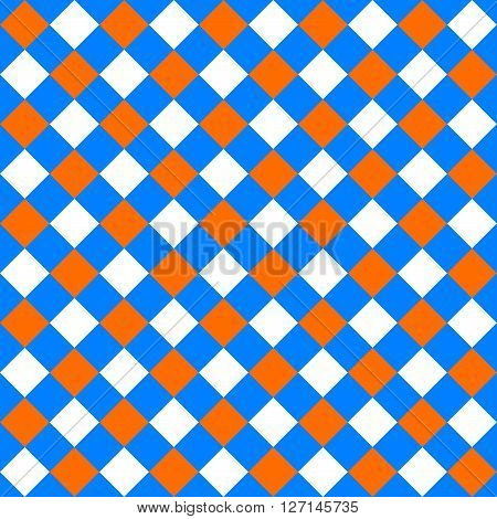 Table diagonal cloth seamless pattern orange and blue vector illustration