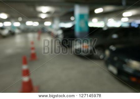 Image Blur Car Parking In Building