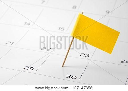 Calendar 2016 - Pin the event day or deadline