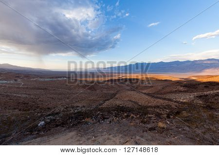 View of the Trona Wildrose Road California