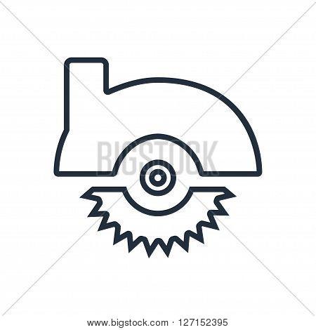 Circular saw icon. Vector illustration. Vector symbols.