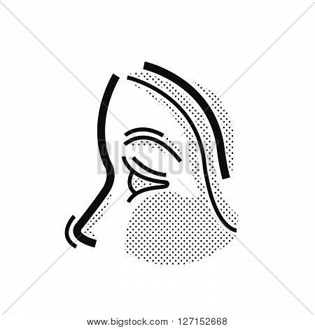 nose Medical Doctors Otolaryngology icon, vector design eps10.