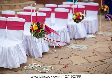 Wedding Chairs, wedding ceremony, Big Red Bows