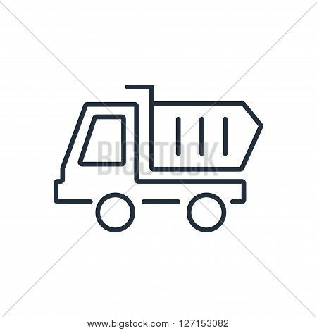 Dumper trucks icon. Vector illustration. Vector symbols.
