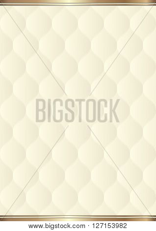 creamy background with decorative pattern - vector illustration