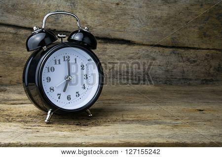 Morning alarm clock on table, clock, alarm,
