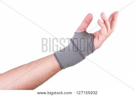 Hand With A Wrist Strap