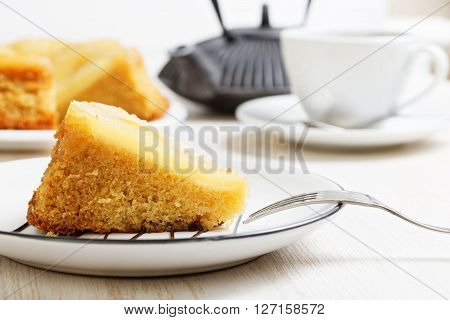 Piece Of Pineapple Upside Down Cake